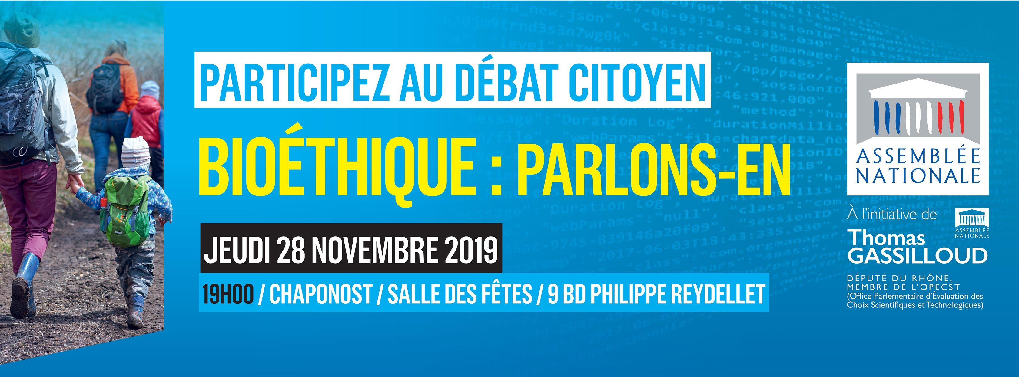 Le conseil de circonscription de Thomas Gassilloud organise un débat public sur la bioéthique, jeudi 28 novembre 2019