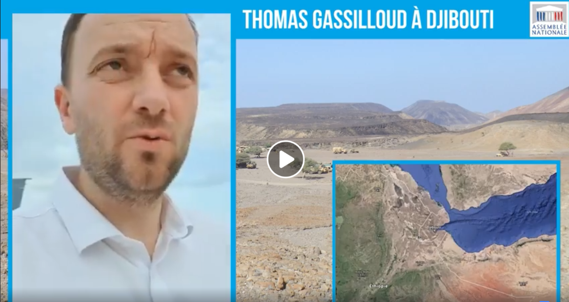 Thomas Gassilloud en immersion à Djibouti