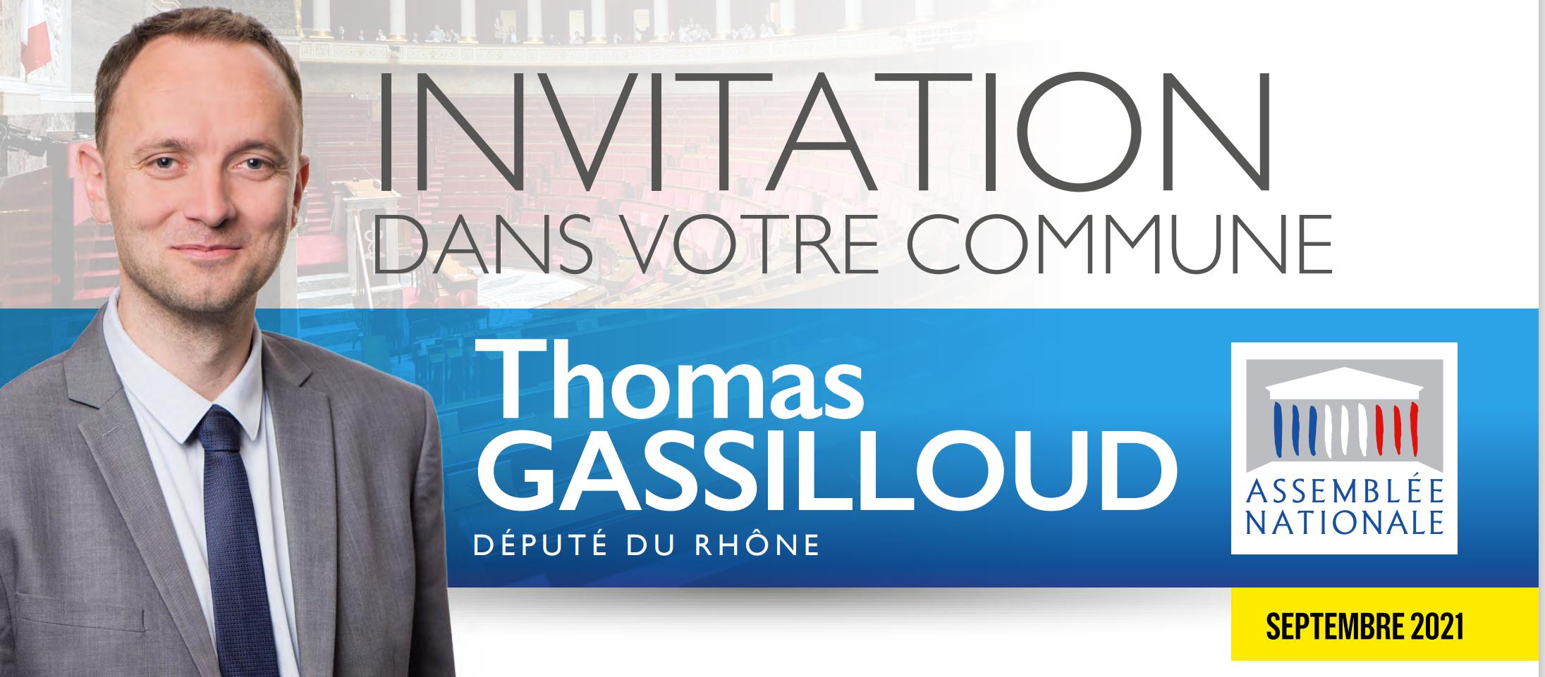 Lettre à la circonscription  (septembre 2021) –  Invitation dans votre commune